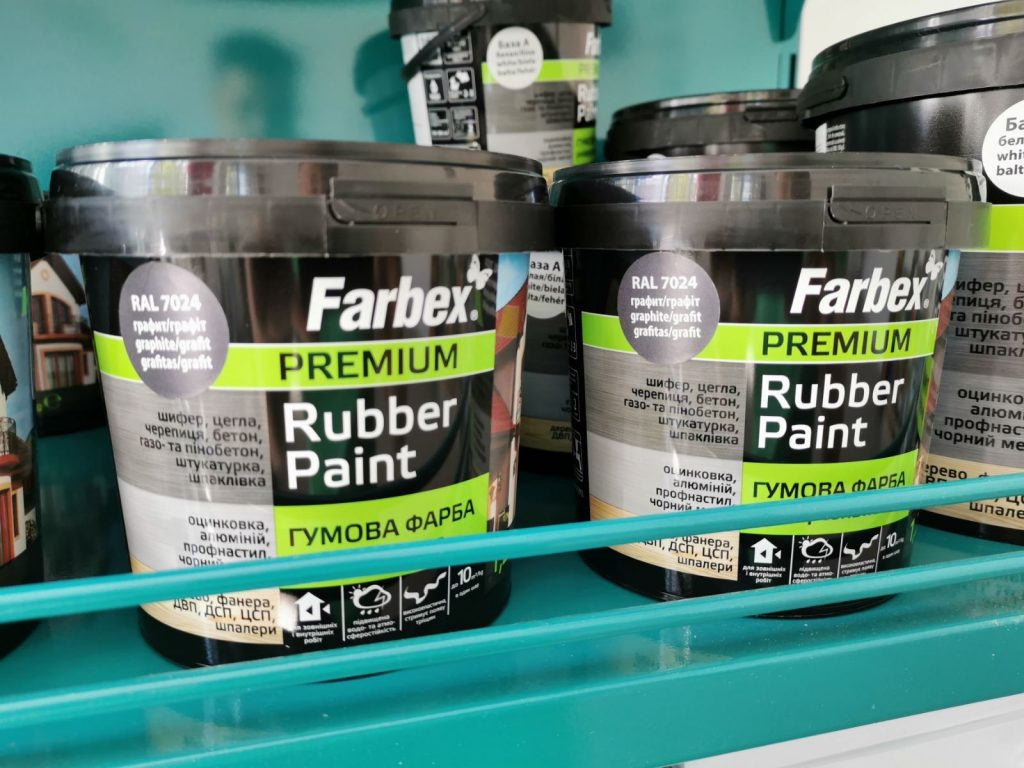 """Farbex """"Rubber Paint"""" elasztikus festék grafitszürke"""