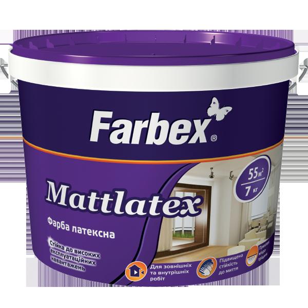 """Farbex """"Mattlatex"""" kültéri és beltéri falfesték"""